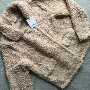 NWT Lulus Ellison Divine Comfort Camel Teddy Coat